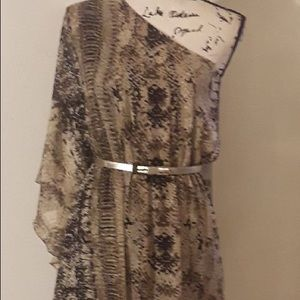 ELIZA J MISSY ONE SHOULDER DRESS.